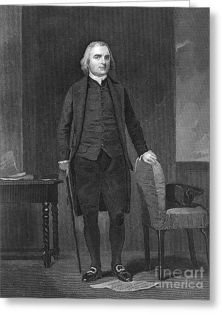 18th Century Greeting Cards - Samuel Adams, American Patriot Greeting Card by Photo Researchers