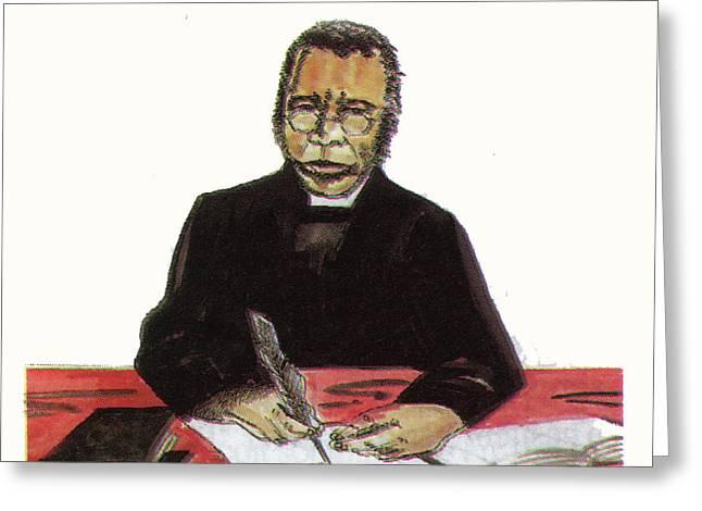 Samuel Ajayi Crowther Greeting Card by Emmanuel Baliyanga