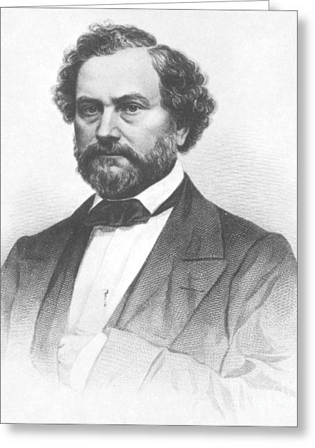 Samuel Greeting Cards - Samuel Colt, American Inventor Greeting Card by Science Source