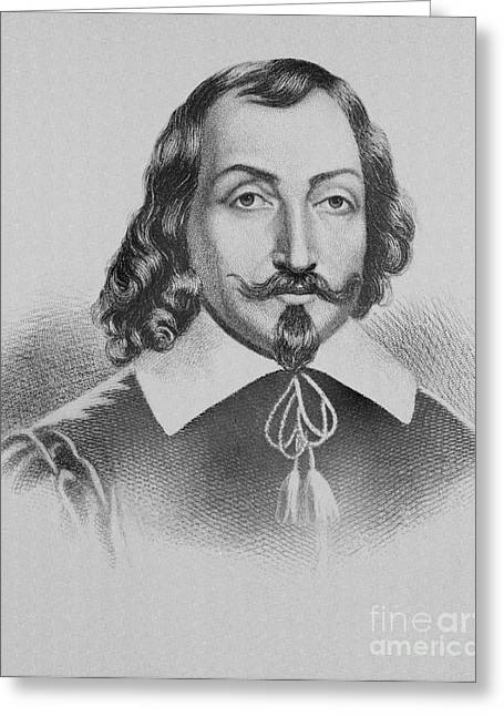 Champlain Greeting Cards - Samuel De Champlain Greeting Card by Photo Researchers