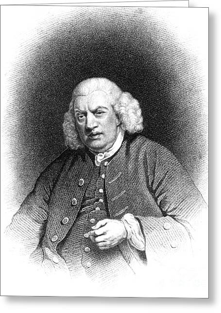 Recently Sold -  - Engraving Greeting Cards - Samuel Johnson, English Author Greeting Card by Photo Researchers