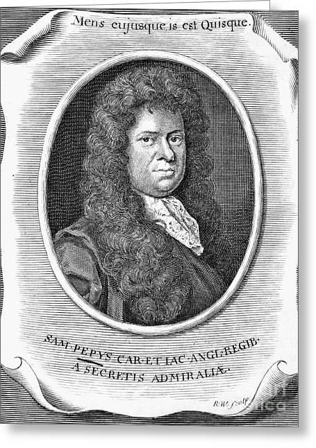 Pepys Greeting Cards - Samuel Pepys (1673-1703) Greeting Card by Granger