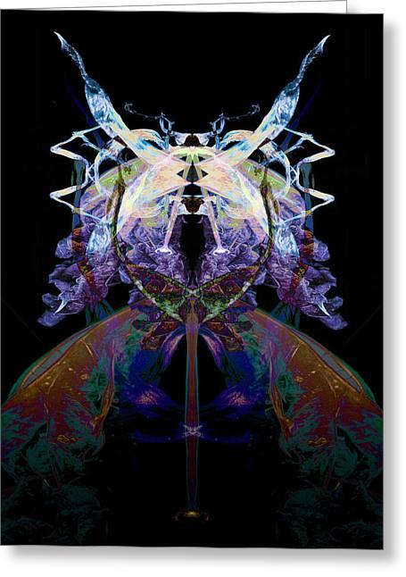 Vivid Colour Greeting Cards - Samurai Bug Plant Greeting Card by David Kleinsasser