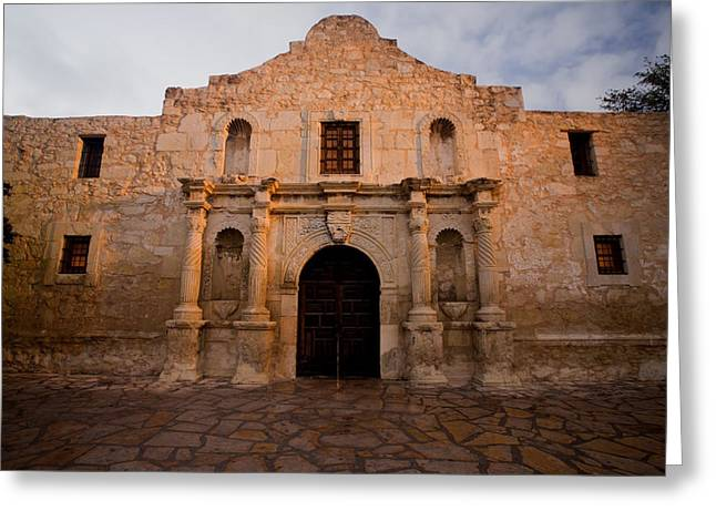 San Antonio Greeting Cards - San Antonio Alamo at Sunrise Greeting Card by Samuel Kessler
