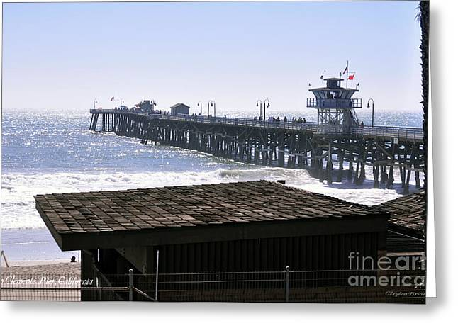 Clemente Greeting Cards - San Clemente Pier California Greeting Card by Clayton Bruster