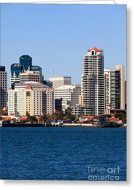 San Diego Bay Greeting Cards - San Diego Buildings Photo Greeting Card by Paul Velgos