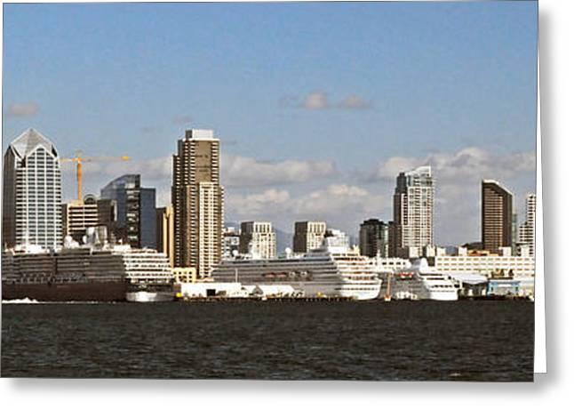 San Diego Harbor Cruise Greeting Cards - San Diego California Greeting Card by Jonathan Whichard