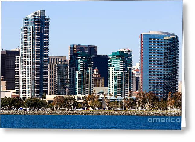 San Diego California Skyline Greeting Card by Paul Velgos
