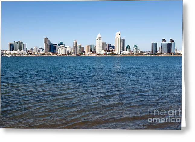 San Diego Bay Greeting Cards - San Diego Cityscape Greeting Card by Paul Velgos