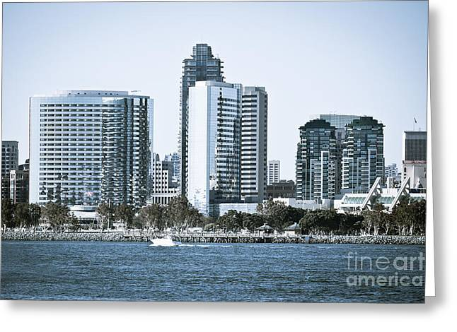 San Diego Downtown Waterfront Buildings Greeting Card by Paul Velgos