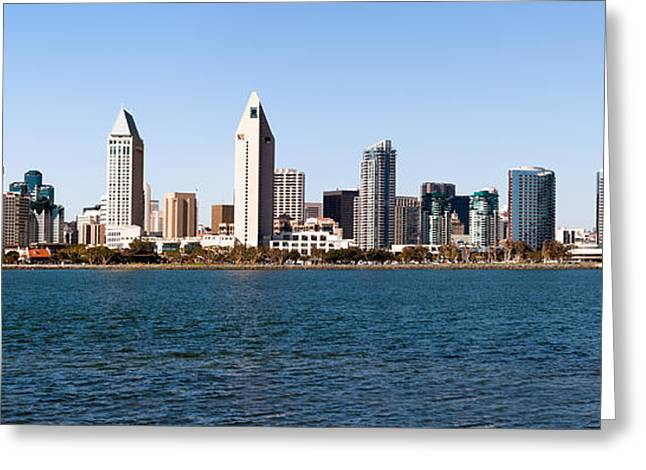 High Rise Greeting Cards - San Diego Panorama Greeting Card by Paul Velgos