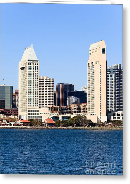 Condo Greeting Cards - San Diego Skyscrapers Greeting Card by Paul Velgos