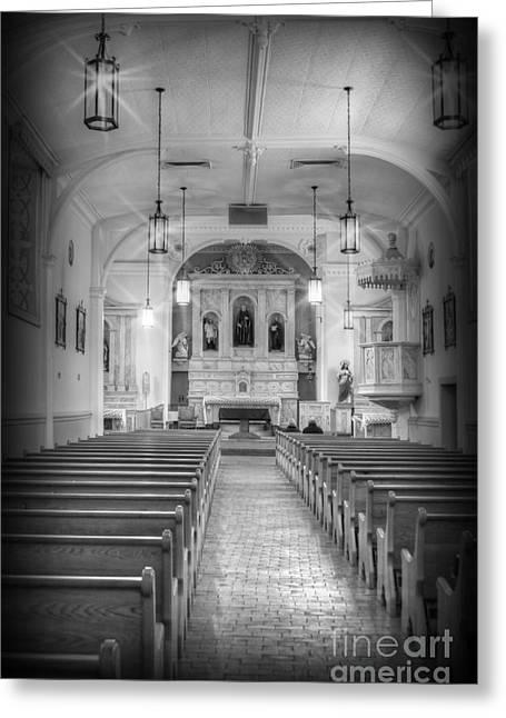 Minster Abbey Greeting Cards - San Felipe De Neri Church Greeting Card by Donna Van Vlack
