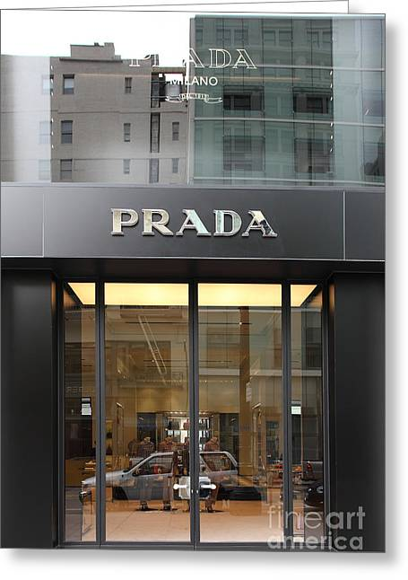 Downtown San Francisco Greeting Cards - San Francisco - Maiden Lane - Prada Fashion Store - 5D17798 Greeting Card by Wingsdomain Art and Photography