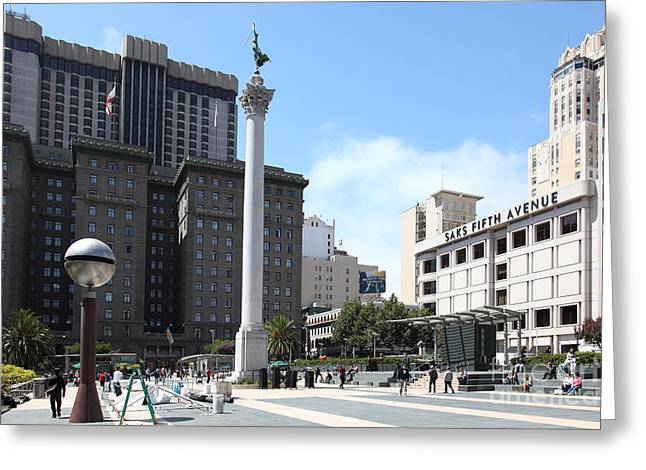 San Francisco - Union Square - 5D17933 Greeting Card by Wingsdomain Art and Photography