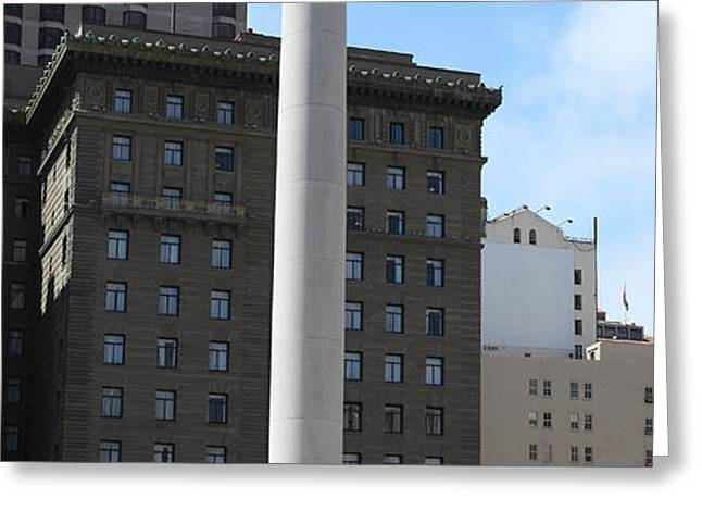 San Francisco - Union Square - 5D17934 Greeting Card by Wingsdomain Art and Photography