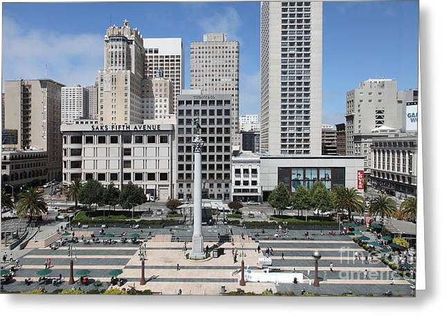 San Francisco - Union Square - 5D17938 Greeting Card by Wingsdomain Art and Photography