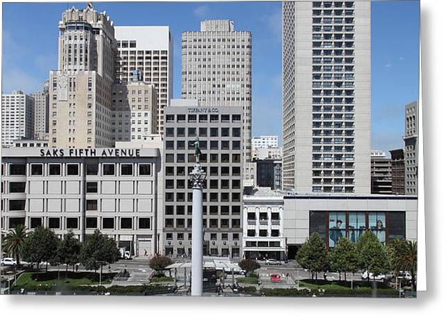 San Francisco - Union Square - 5D17941 Greeting Card by Wingsdomain Art and Photography