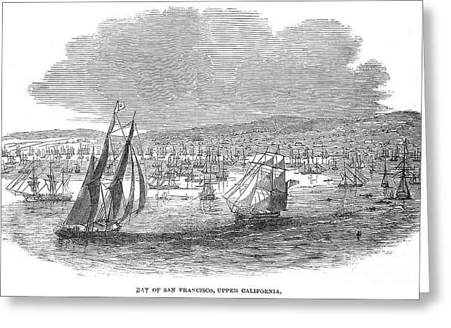 Destiny Greeting Cards - San Francisco Bay, 1849 Greeting Card by Granger