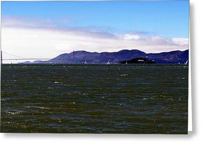 Marin County Greeting Cards - San Francisco Bay Panorama Greeting Card by Michael Courtney