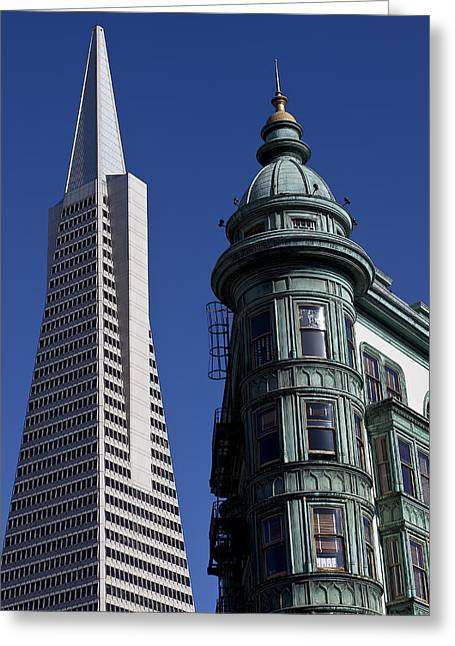 Sentinels Greeting Cards - San Francisco Buildings Greeting Card by Garry Gay