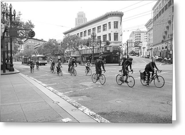 Thomas Brown Greeting Cards - San Francisco by Cycle Greeting Card by Thomas Brown