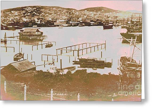 Rincon Greeting Cards - San Francisco California in 1853 Greeting Card by Padre Art