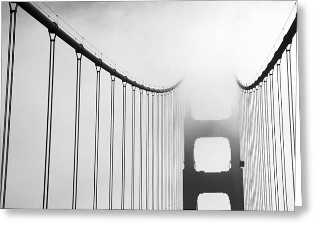 Overcast Day Greeting Cards - San Francisco, California, Usa-fog Greeting Card by Keenpress