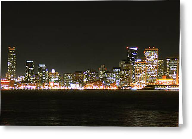 San Francisco Pyrography Greeting Cards - San Francisco Cityscape Greeting Card by Michael Meltser