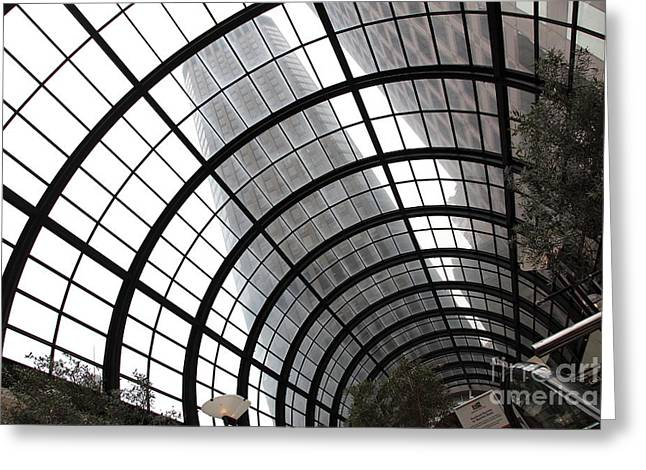 Downtown San Francisco Greeting Cards - San Francisco Crocker Galleria - 5D17869 Greeting Card by Wingsdomain Art and Photography