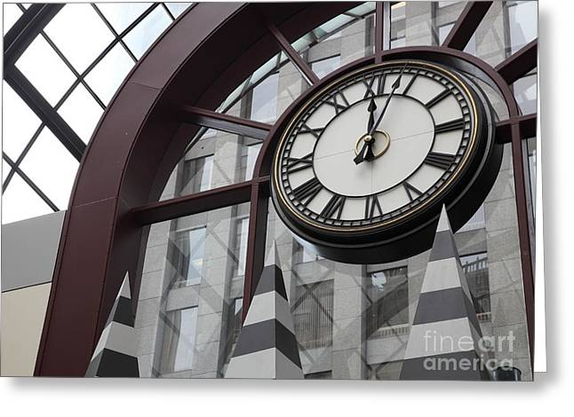 Downtown San Francisco Greeting Cards - San Francisco Crocker Galleria - 5D17907 Greeting Card by Wingsdomain Art and Photography