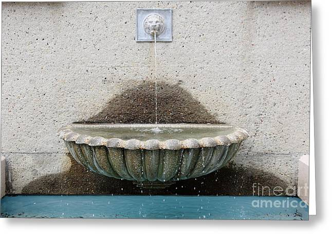 Downtown San Francisco Greeting Cards - San Francisco Crocker Galleria Roof Garden Fountain - 5D17894 Greeting Card by Wingsdomain Art and Photography