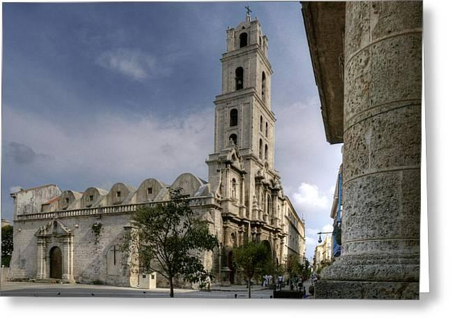 Historic Site Greeting Cards - San Francisco de Asis Abbey. Havana. Cuba Greeting Card by Juan Carlos Ferro Duque