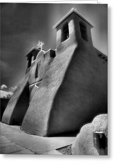 Adobe Greeting Cards - San Francisco de Asis Church II Greeting Card by Steven Ainsworth