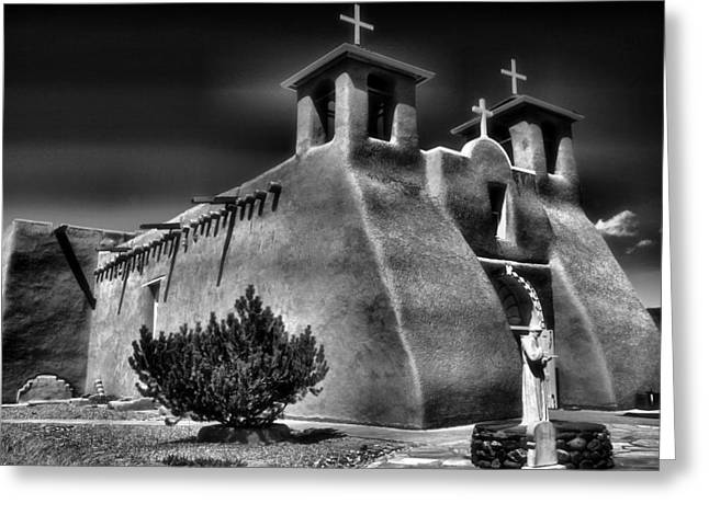 Taos Greeting Cards - San Francisco de Asis Church III Greeting Card by Steven Ainsworth