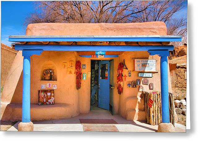 Taos Greeting Cards - San Francisco de Asis Gift Shop Greeting Card by Steven Ainsworth