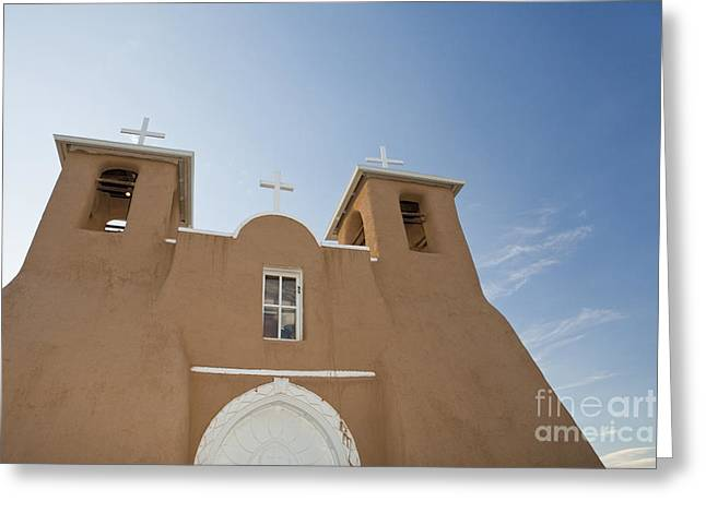 Adobe Greeting Cards - San Francisco de Asis Mission Church Greeting Card by Bryan Mullennix