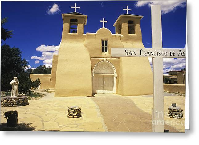 Taos Greeting Cards - San Francisco De Asis Taos New Mexico Greeting Card by Bob Christopher