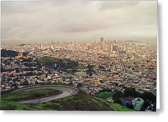 San Francisco Bay Greeting Cards - San Francisco from atop Twin Peaks Greeting Card by James Rasmusson