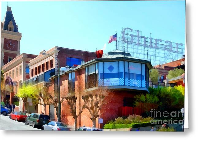 Ghirardelli Chocolate Greeting Cards - San Francisco Ghirardelli Chocolate Factory . 7D14093 Greeting Card by Wingsdomain Art and Photography
