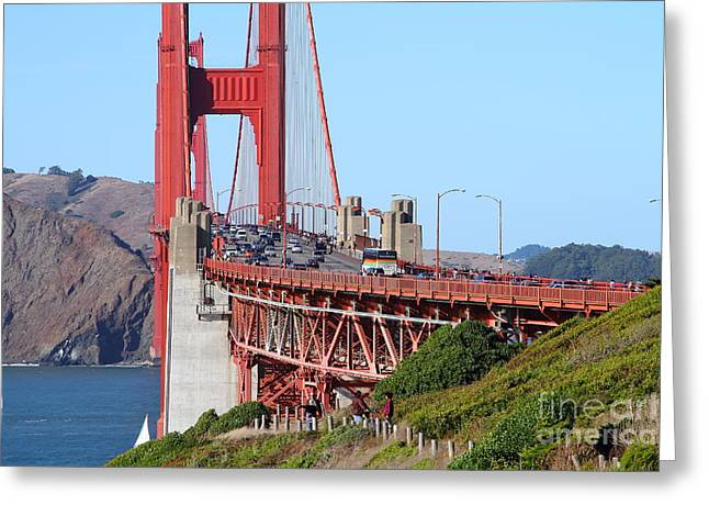 San Francisco Golden Gate Bridge . 7d8151 Greeting Card by Wingsdomain Art and Photography
