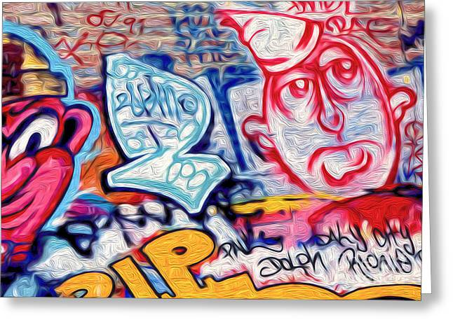 Gregory Dyer Mixed Media Greeting Cards - San Francisco Graffiti Park - 2 Greeting Card by Gregory Dyer