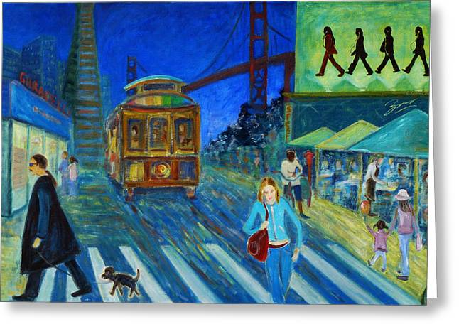 Union Square Greeting Cards - San Francisco Moments Greeting Card by Xueling Zou