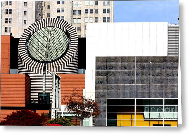 Art Of Building Greeting Cards - San Francisco Museum of Modern Art SFMOMA 3 Greeting Card by Wingsdomain Art and Photography