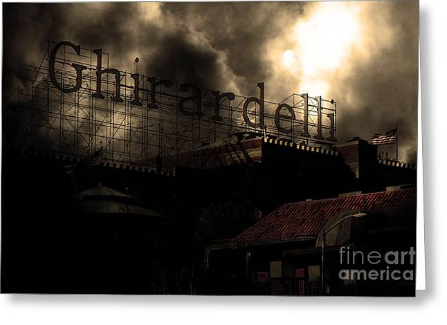 Pier 39 Greeting Cards - San Francisco Nights At The Old Chocolate Factory . 7D13978 Greeting Card by Wingsdomain Art and Photography
