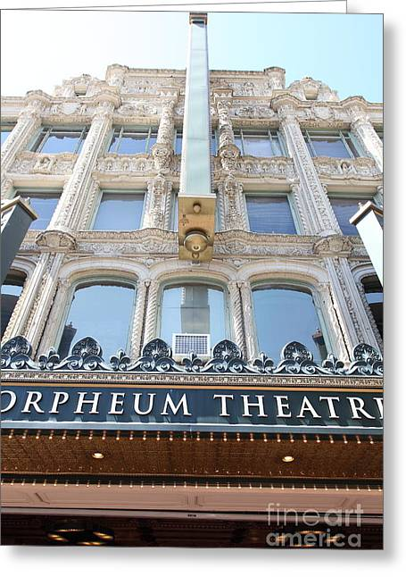 Theatre District Greeting Cards - San Francisco Orpheum Theatre - 5D17987 Greeting Card by Wingsdomain Art and Photography