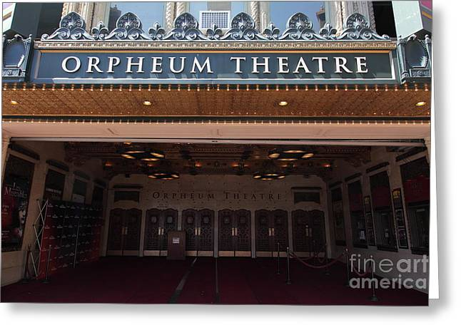 Theatre District Greeting Cards - San Francisco Orpheum Theatre - 5D17988 Greeting Card by Wingsdomain Art and Photography