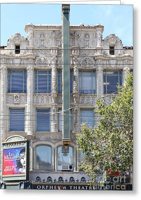 Theatre District Greeting Cards - San Francisco Orpheum Theatre - 5D18003 Greeting Card by Wingsdomain Art and Photography