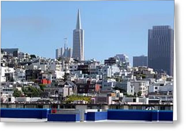 Ocean Vista Greeting Cards - San Francisco Panorama Greeting Card by Henrik Lehnerer