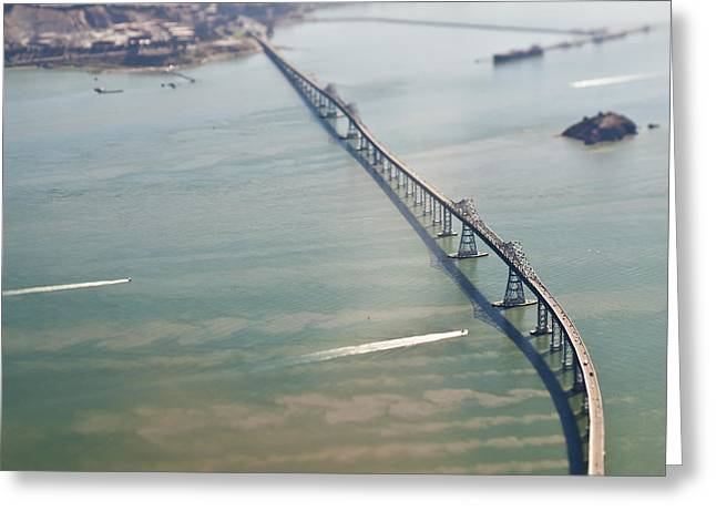 Richmond Bridge Greeting Cards - San Francisco Richmond Bridge Greeting Card by Eddy Joaquim
